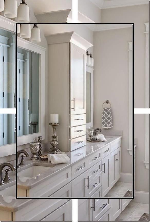 Silver Bathroom Decor Small Bathroom Ideas Bathroom Mirror Set In 2020 White Bathroom Decor White Bathroom Yellow Bathroom Decor