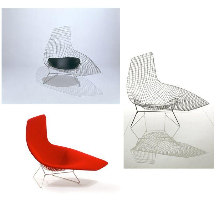 Knoll Harry Bertoia Asymmetric Chaise Knoll Bertoia American Furniture Chaise
