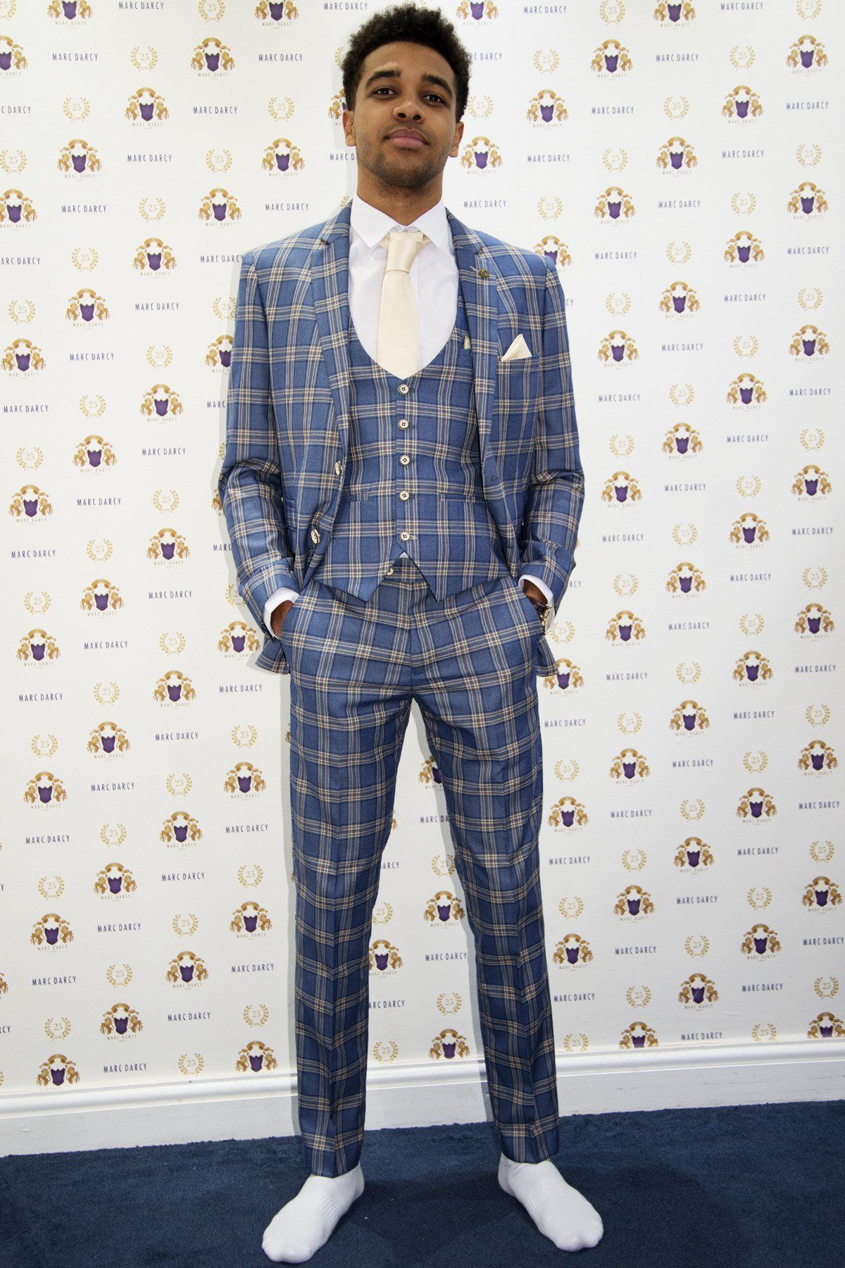 58f998d97960 TONY - Blue Yellow Check Suit As Seen On Asan N'Jie - Marc Darcy ...