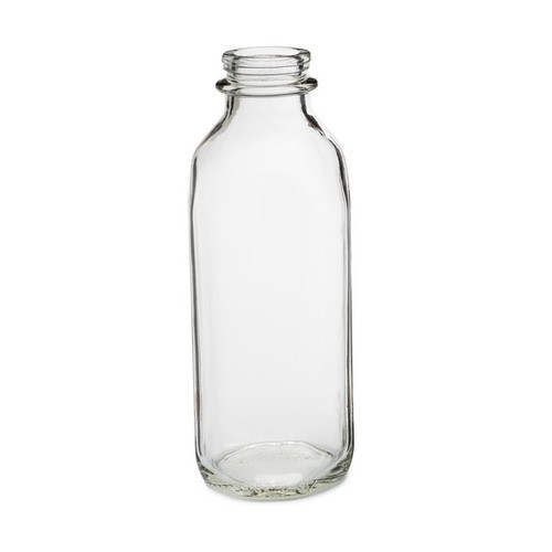 33 Oz Clear Glass Milk Bottles Cap Not Included Glass Milk Bottles Milk Glass Bottle