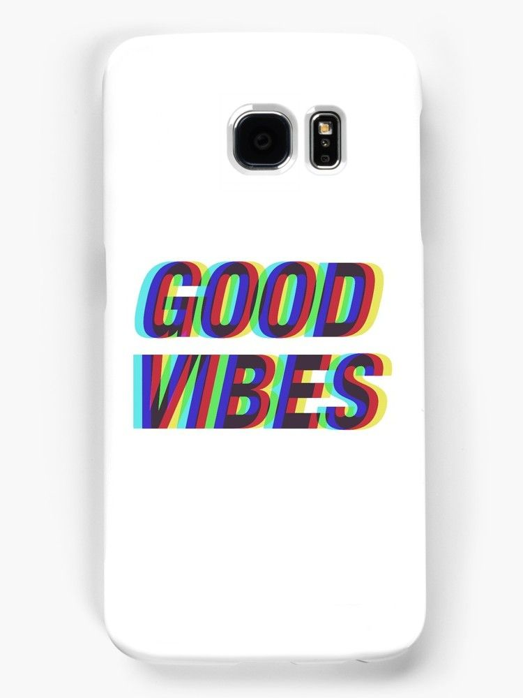 big sale 7dc99 0edfe Good Vibes Techicolor' Case/Skin for Samsung Galaxy by peakednthe90s ...