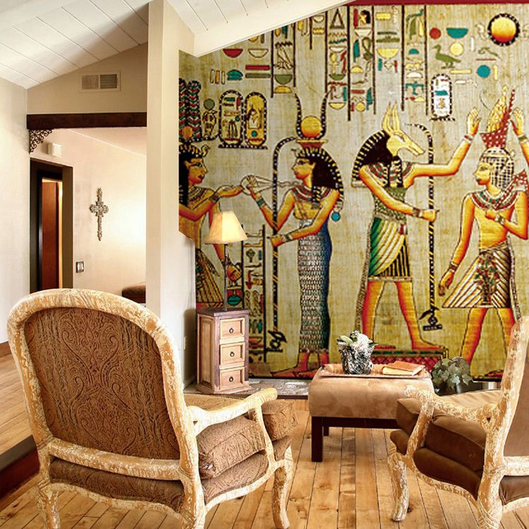 photo wallpaper retro Egypt wallpaper personalized wallpaper mural wallpaper for living room mural