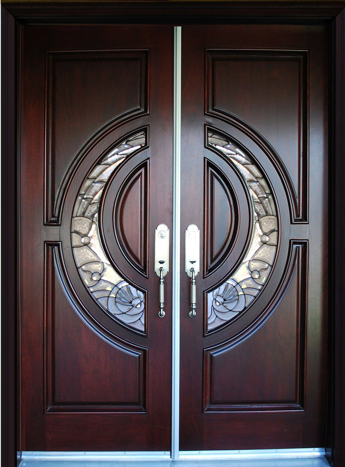 Exterior Front Entry Double House Wood Door M580e Dbl 36