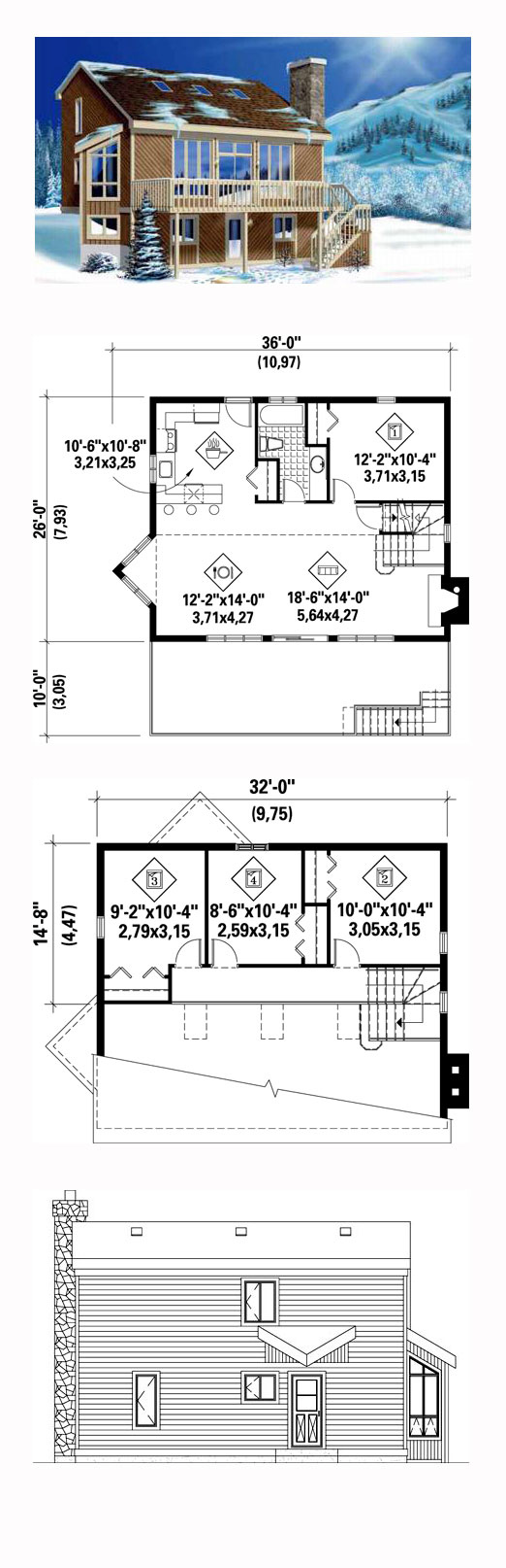 Traditional Style House Plan 50192 With 4 Bed 3 Bath 2 Car Garage House Plans Best House Plans Saltbox Houses