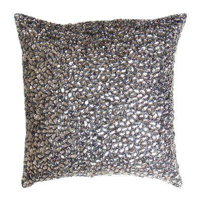 AV Home Jewel Beads and Silk Dupioni Throw Pillow & Reviews | Wayfair