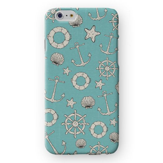 Anchors and Sea Objets Pattern Premium Case
