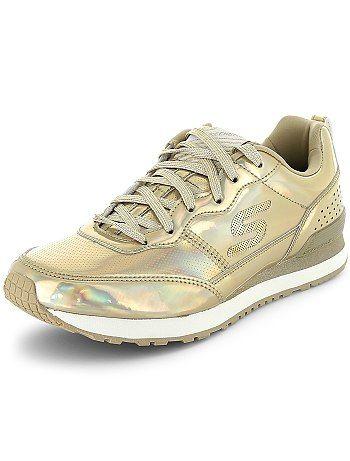 88369a74ea7 Zapatillas deportivas  Skechers  con plantilla con memoria plata Mujer