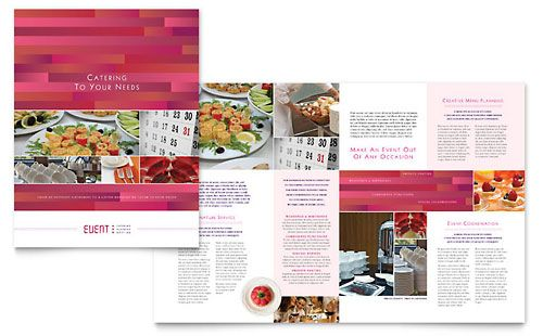 corporate event planner caterer brochure template design
