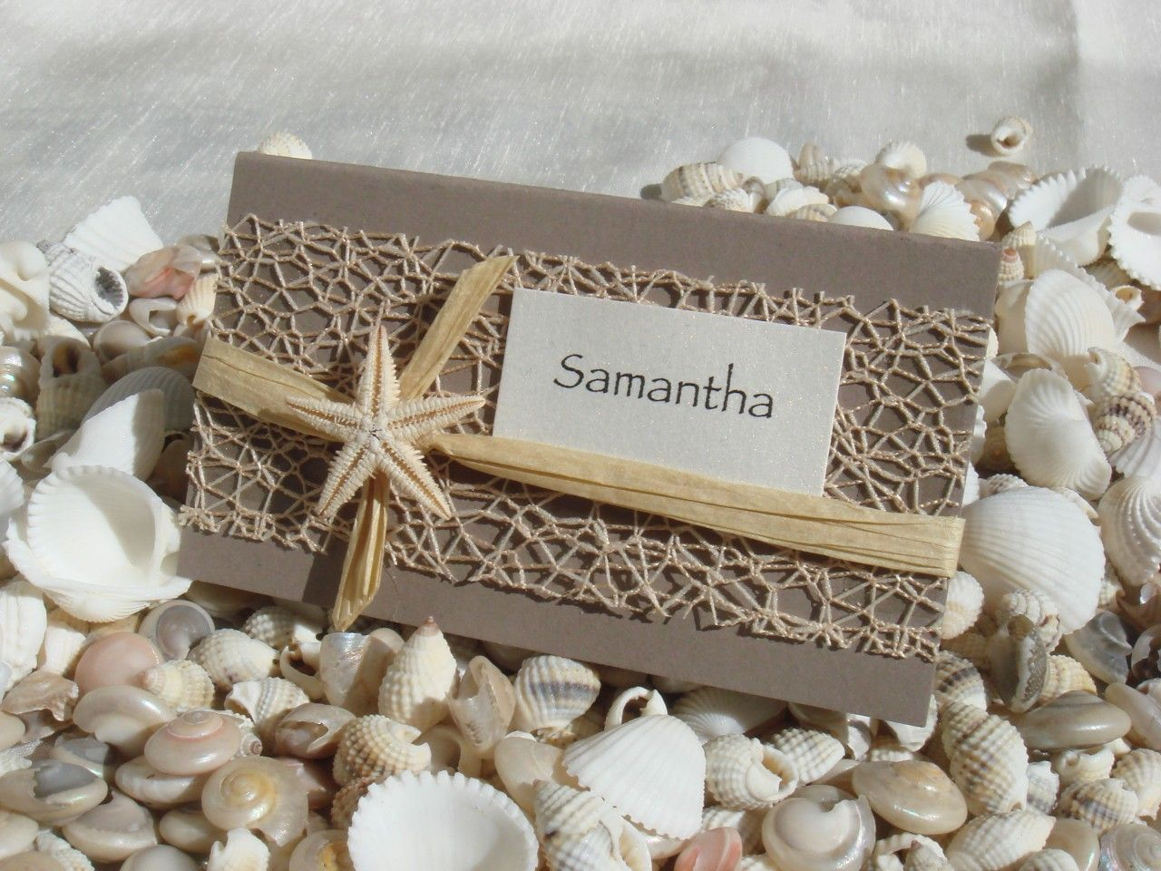 Beach Wedding Diy Place Card Kit Urban Starfish Natural 25 Pcs