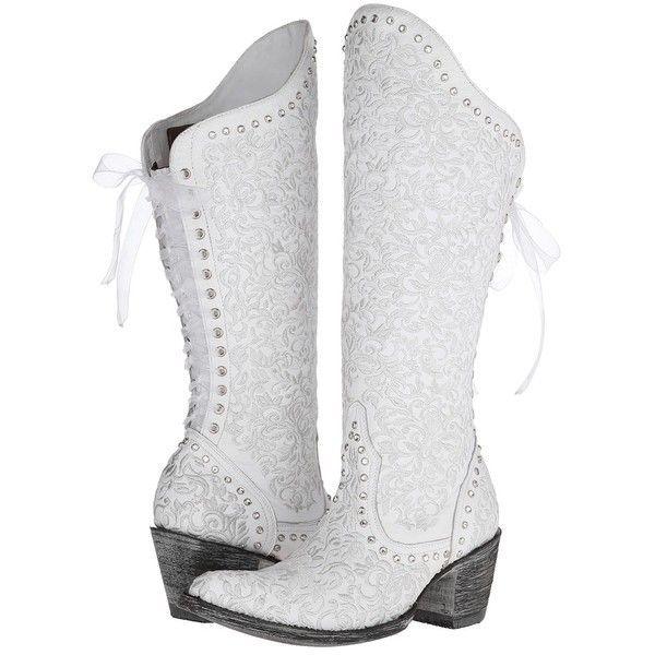 Old Gringo Ice Bride Women\'s Boots, White ($608) ❤ liked on ...