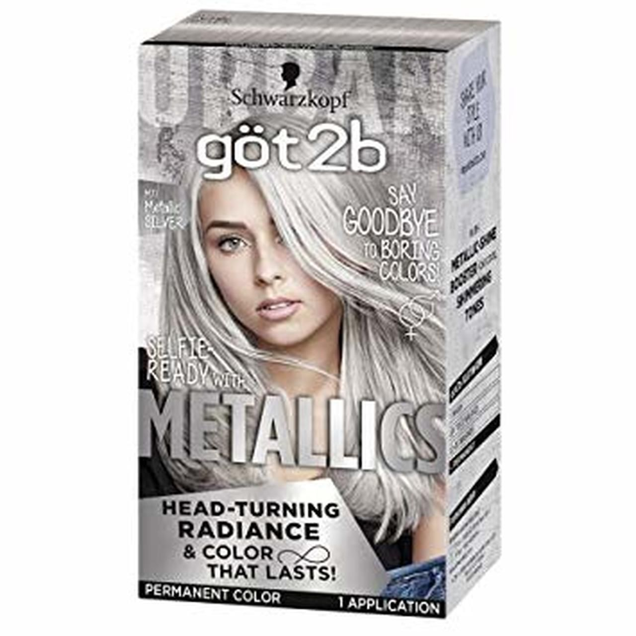 Schwarzkopf Got2b Metallics Permanent Hair Color M71 Metallic
