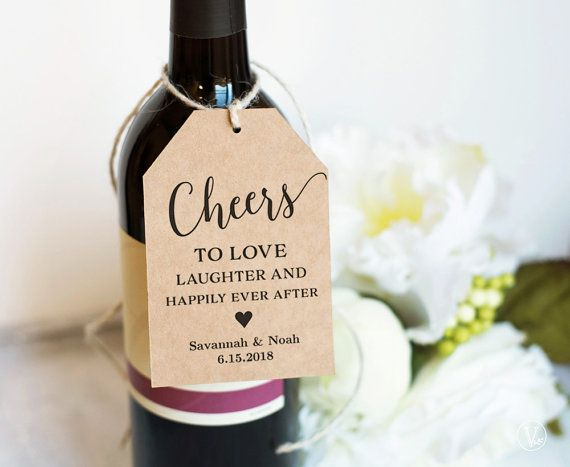 Wine Tags Printable Wedding Favor Tags Template Cheers Favor Tag