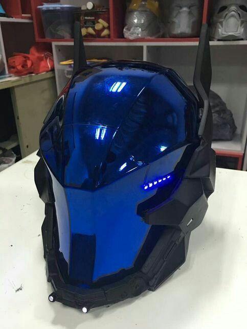 arkham knight cosplay helmet geek nation en 2018 pinterest armure casque et moto. Black Bedroom Furniture Sets. Home Design Ideas