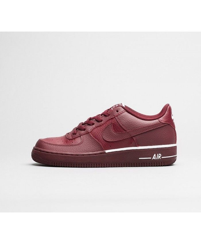 on sale fa5c7 3ba1e Nike Air Force 1 GS Chaussures Rouge Blanc