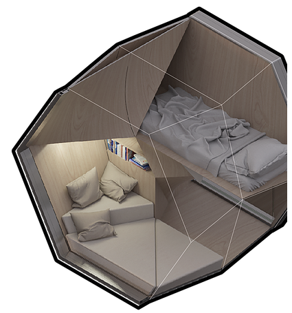 Homed Project Uses 3d Printing To Provide Temporary Accommodation For Homeless 3dprint Com The Voice Of 3d Printing Additive Manufacturing Homeless Shelter Design Shelter Design Portable Shelter