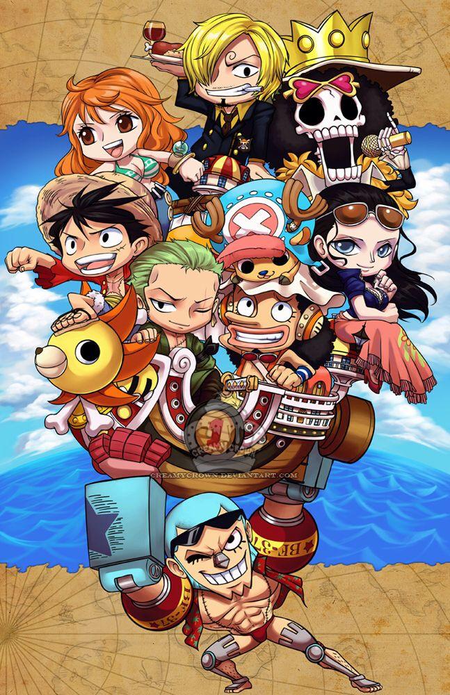 Chibi straw hats One piece anime, One piece seasons, Anime