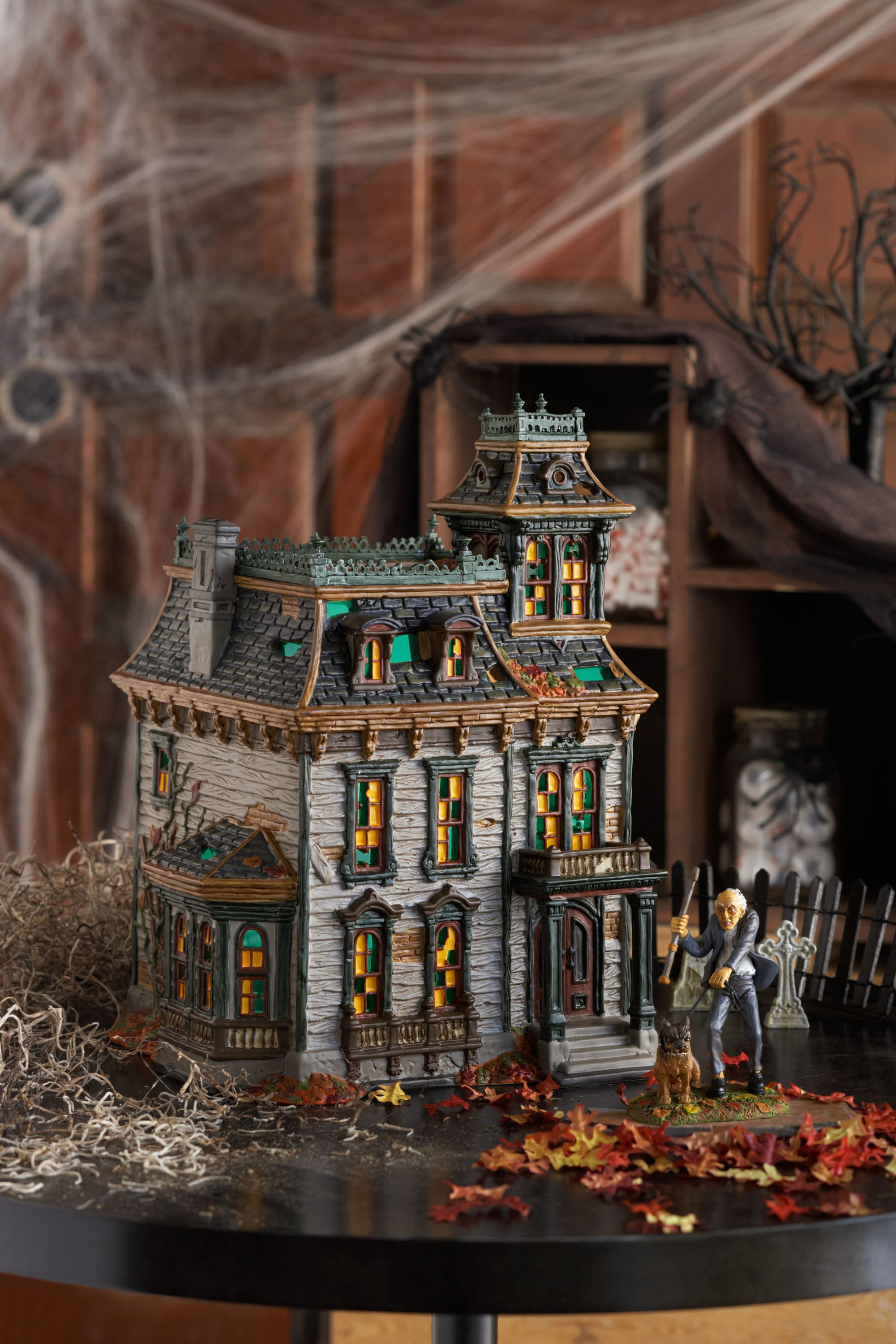 department 56 snow village halloween series 4025337 mordecai mansion www department56com shopdepartment56com