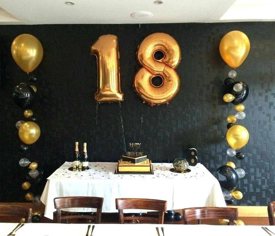 21st Birthday Decorations 18 Party 60th Balloons Black And Gold