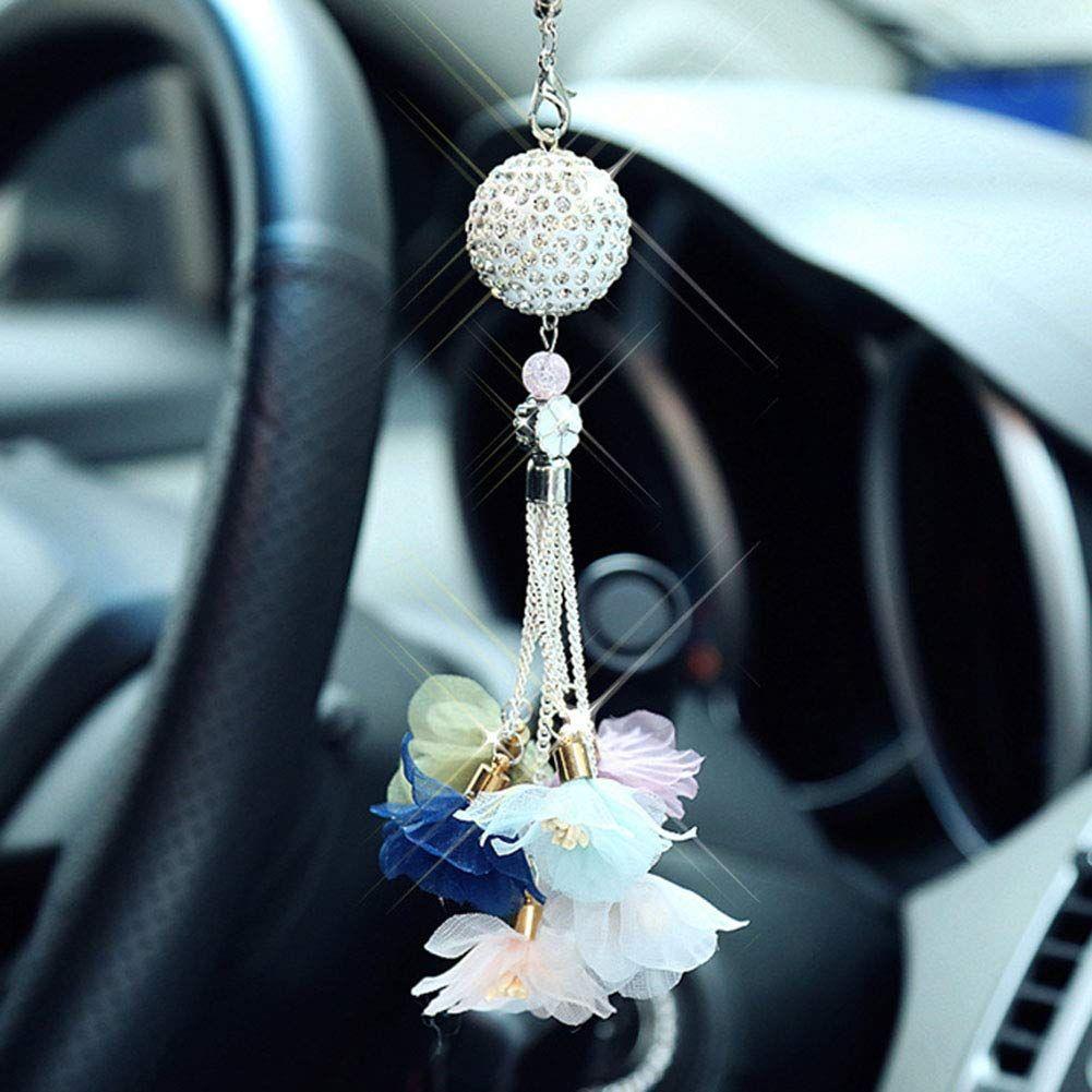 Balight 2PCS Universal Bling Car Door Lock Pull Rod Bolt Cover Car Accessories For Women