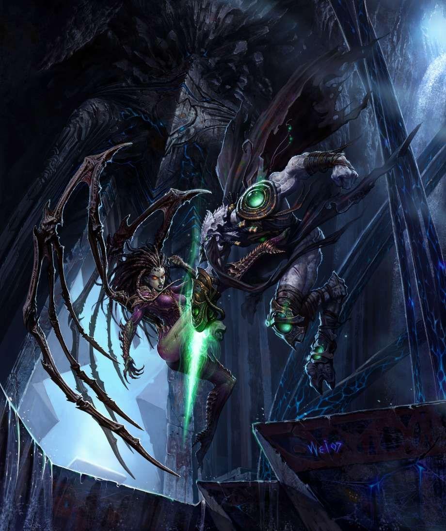 Sarah Kerrigan Vs Zeratul Starcraft Kerrigan Starcraft