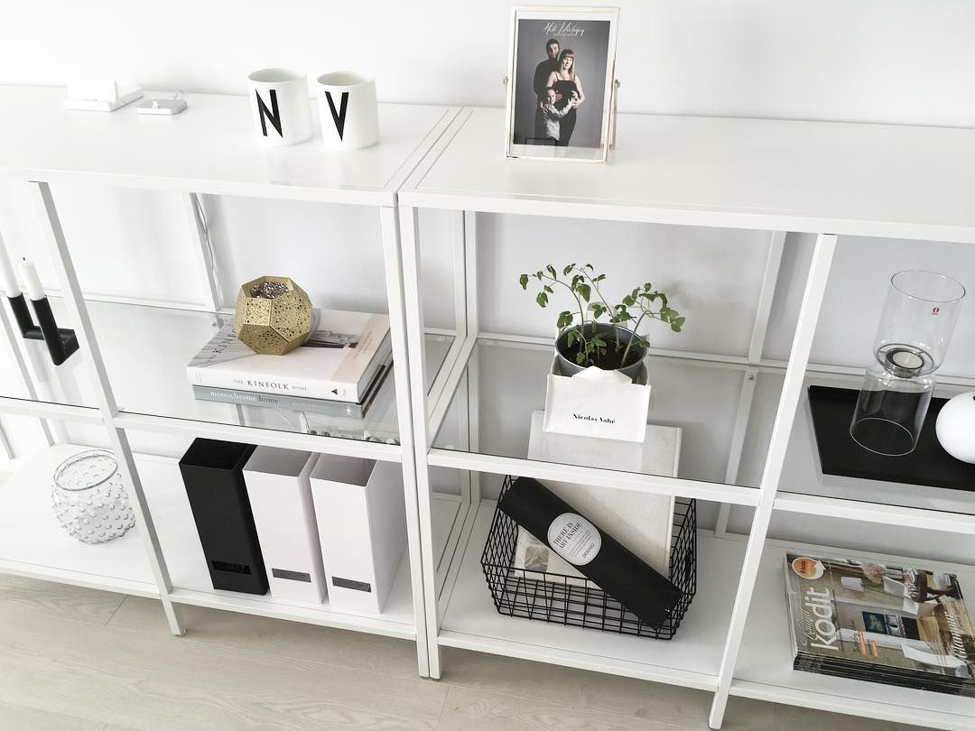 All white bedroom ikea - Ikea Vittsj Shelves Minimomlistic
