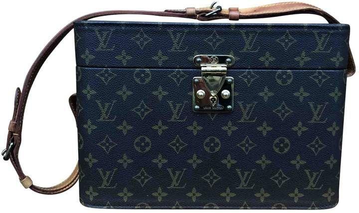 Louis Vuitton Brown Cloth Travel Bag Louis Vuitton Louis