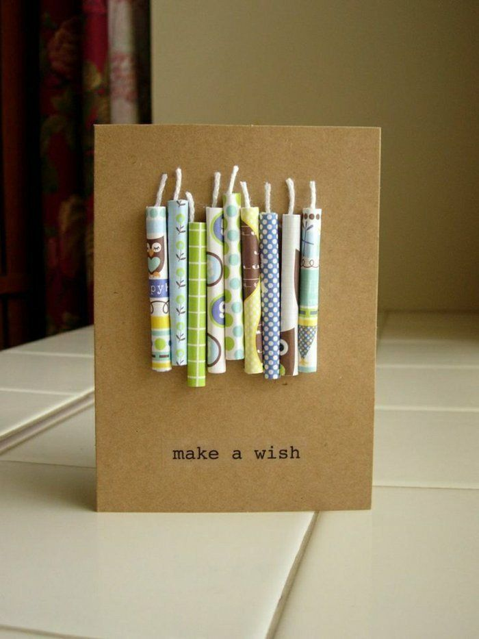 Geburtstagskarten Selber Gestalten Kerzen Basteln Diy
