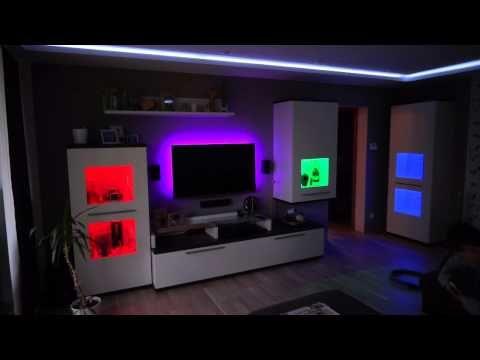 Led Wohnzimmer Youtube Wohnzimmer Wandgestaltung Streichen