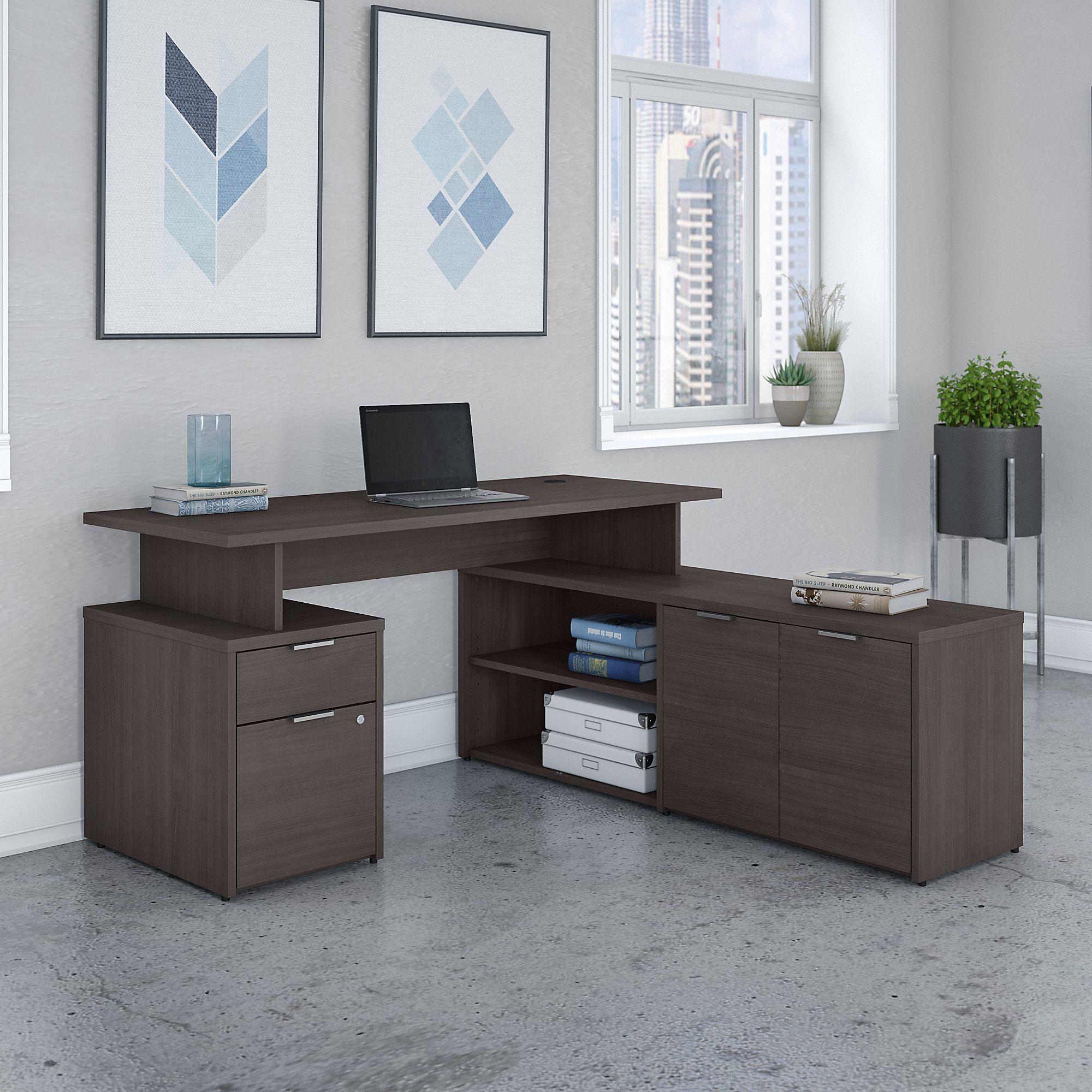 Bush Business Furniture Jamestown 60w L Shaped Desk With Drawers L Shaped Desk Desk With Drawers Bush Business Furniture