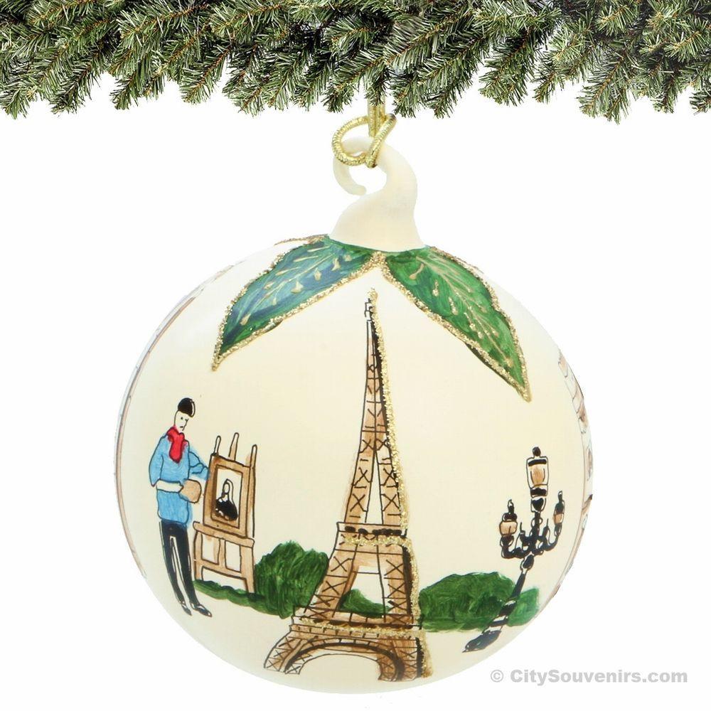 Paris Christmas Ornament.Paris Christmas Ornament Glass Ball Save For Other