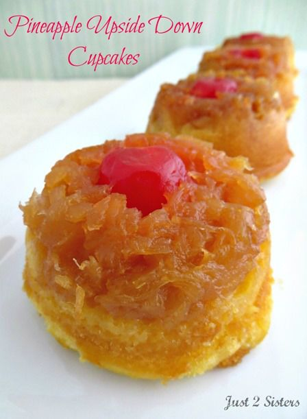 Pineapple Upside Down Cupcakes from Just 2 Sisters