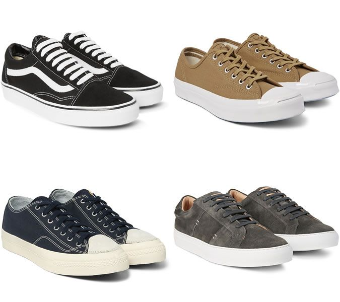 Men S Slimline Skate Shoes Trainer Trends 2016 Men S