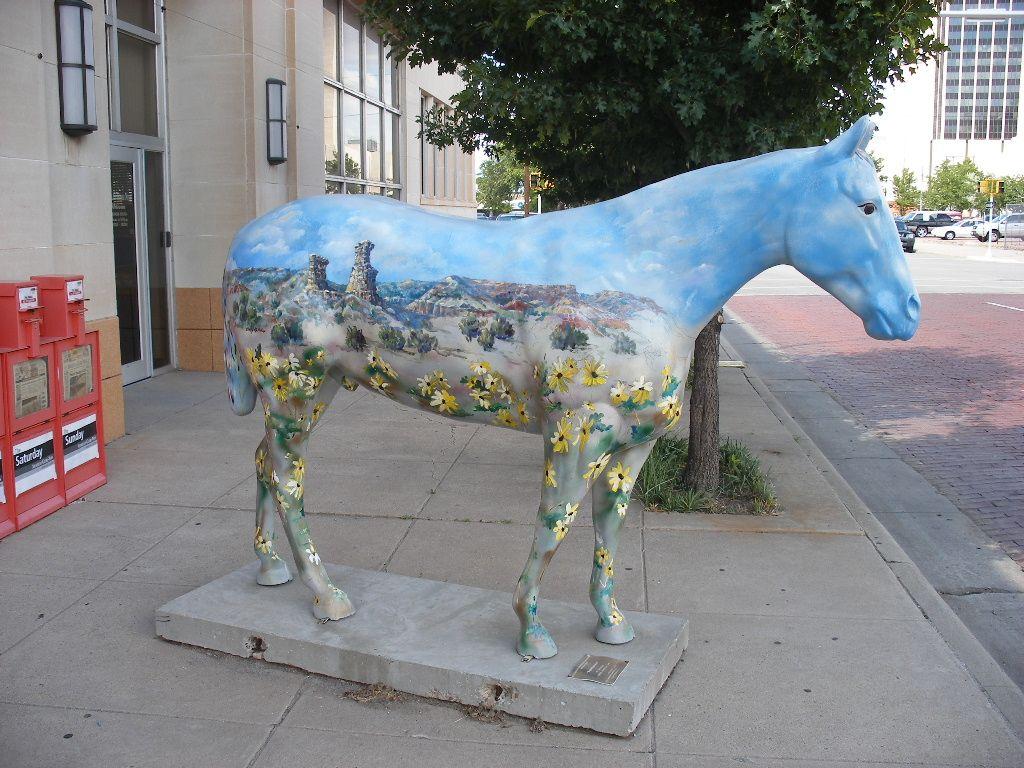 Fiber Quarter Horse Art Amarillo, TX Horse art