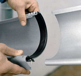 Gutter Connectors for Zambelli ZINC Half-Round Gutter Systems