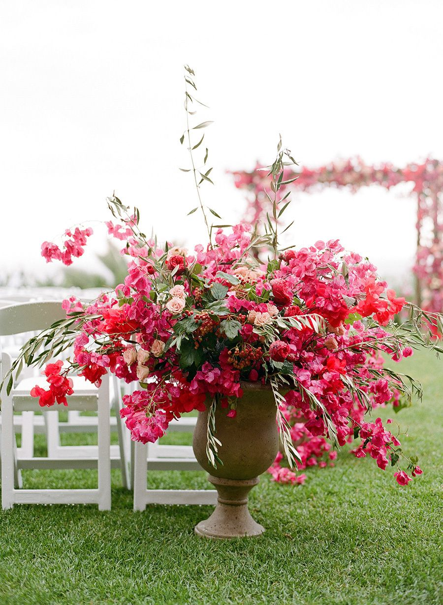 Bright pink - love for spring weddings!