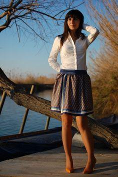falda con un pañuelo, recomendable blog con ideas y tutoriales                                                                                                                                                     Más