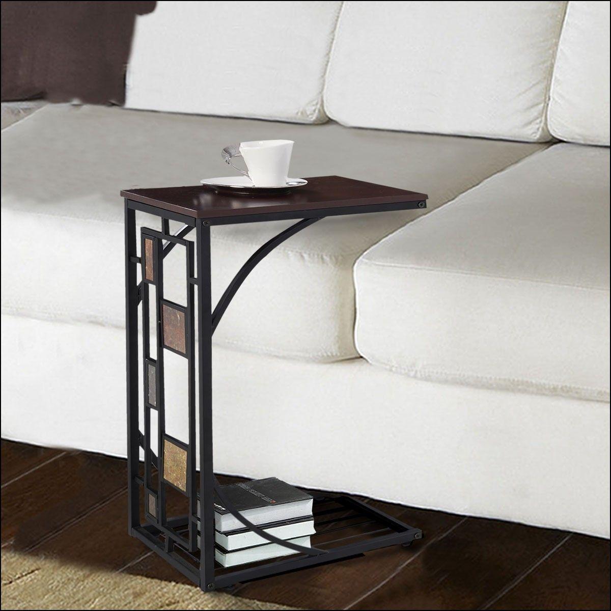 C Shaped Sofa Table