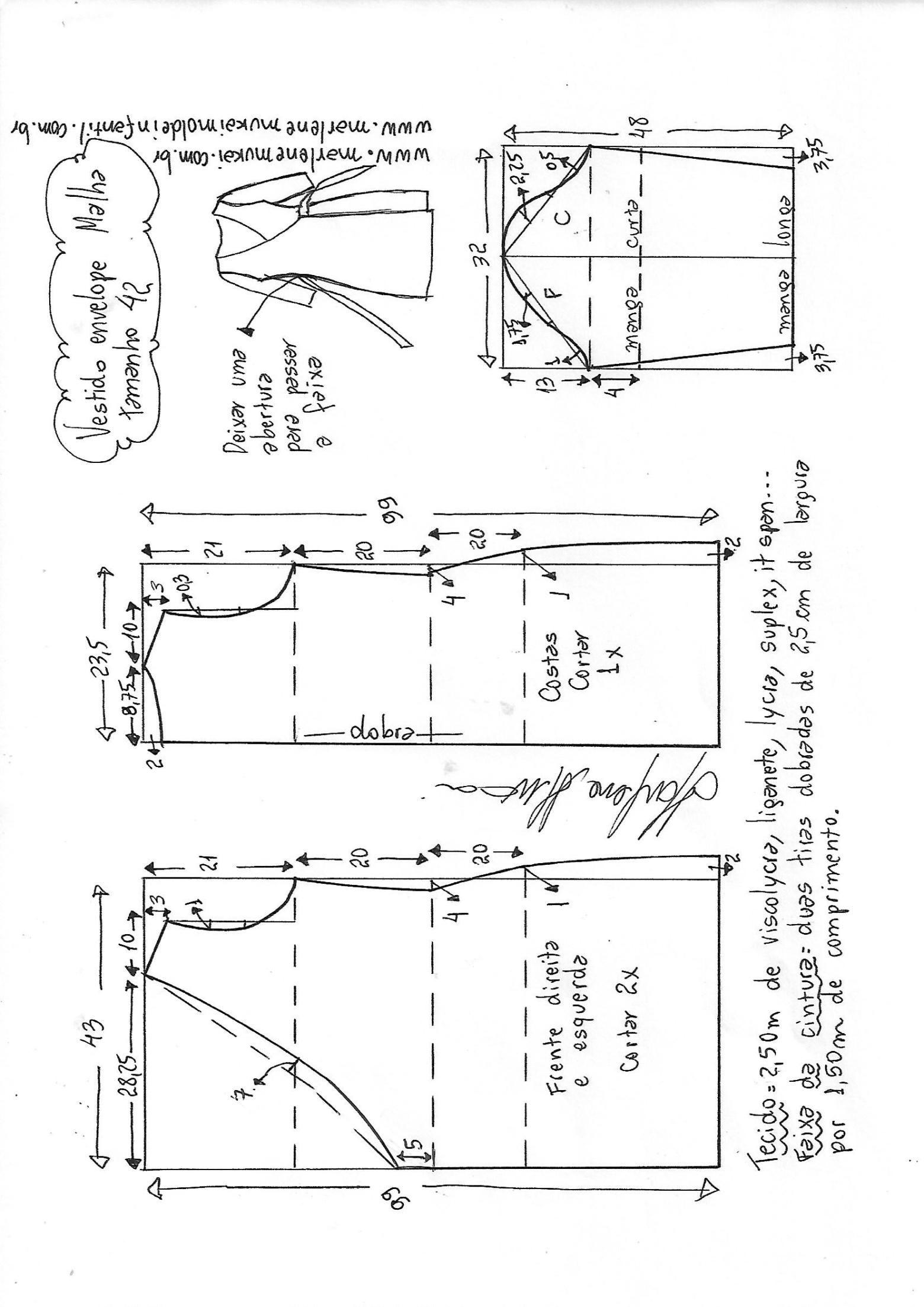 Vestido envelope para malha | Diane von furstenberg, Free pattern ...