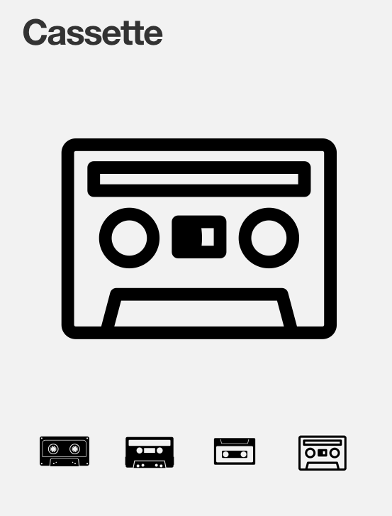 A Handy Site For Symbols Icons Which Are Uploaded By Whomever Cares To Draw One See Also Cassette Cassette Tapes Audio Tape