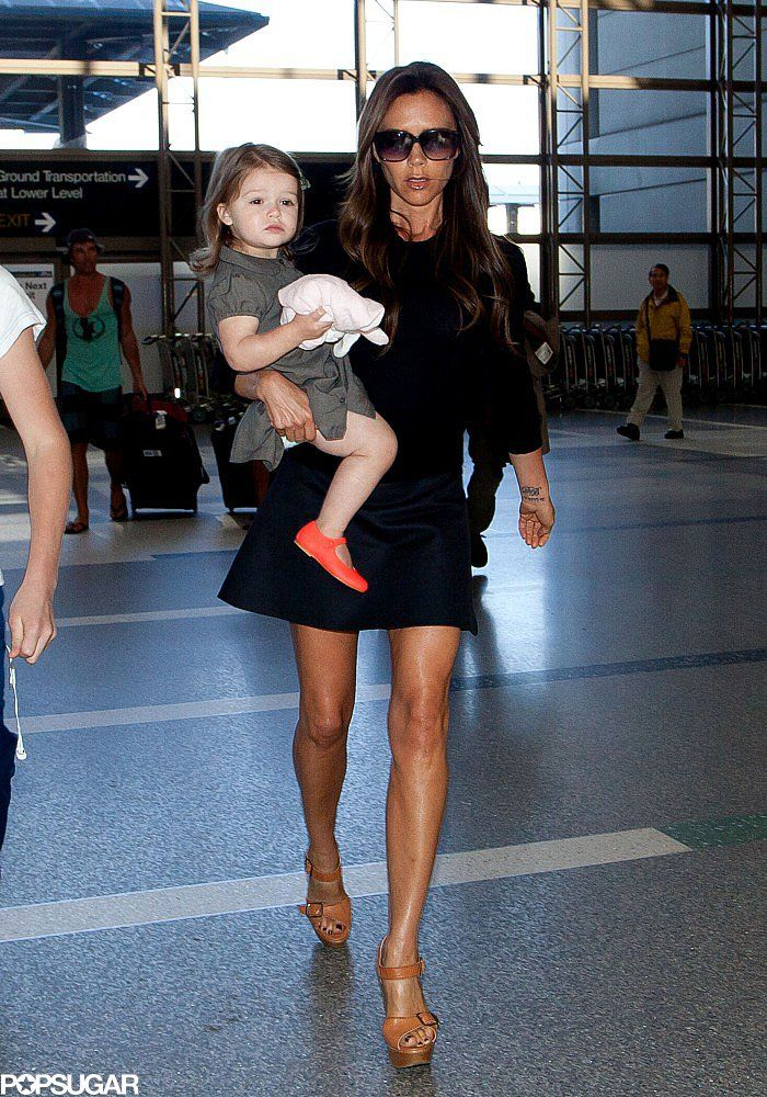 063bd649254ad2 Victoria Beckham Legs It Through LAX With All Four Kids | Free or ...