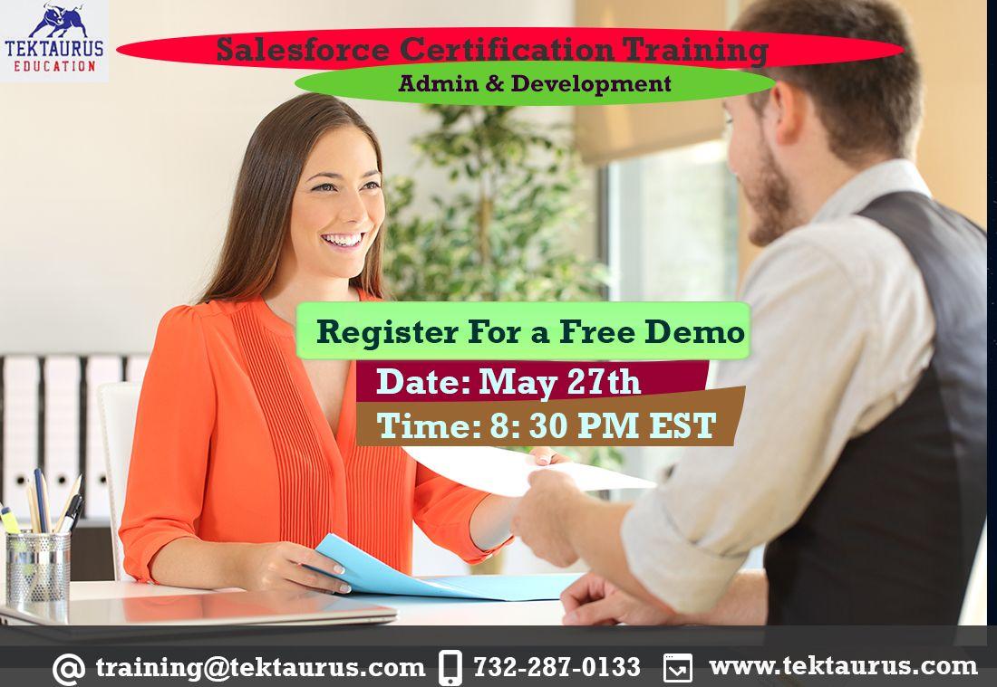 training salesforce certification job opening
