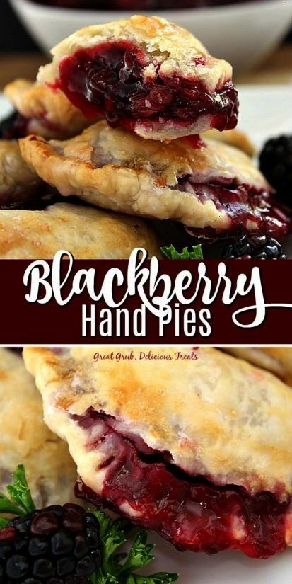 Hand Pies are delicious hand held mini pies packed full of fresh blackberries then baked to perfect