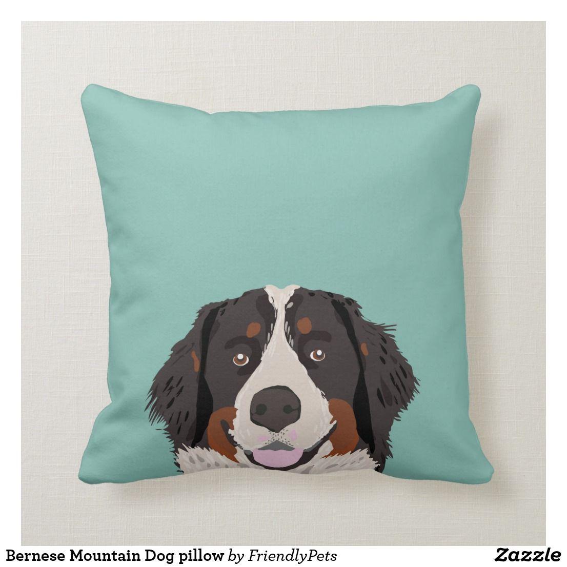 Bernese Mountain Dog Pillow Zazzle Com Dog Pillow Bernese Mountain Dog Dog Lover Gifts