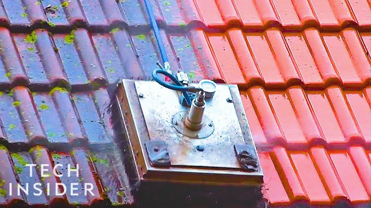 Machine Cleans Roofs Like A Lawnmower YouTube Roof