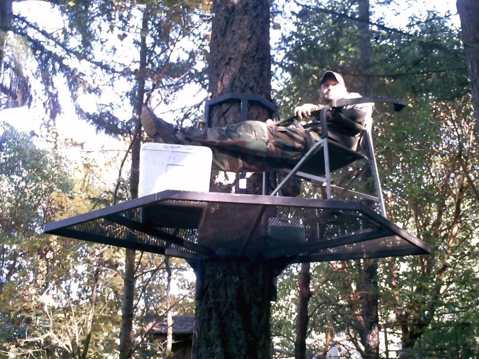 Portable zip platform hunting pinterest tree houses for Deer hunting platforms