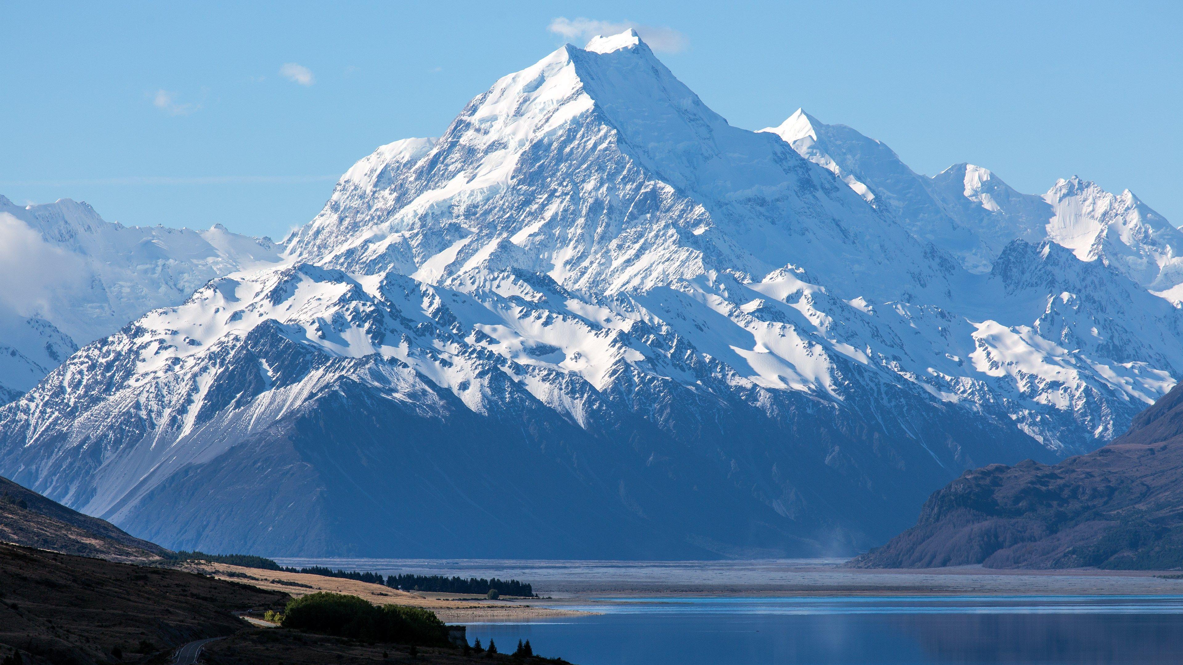 4k Wallpaper New Hd 3840x2160 Snow Lake Snow Mountain