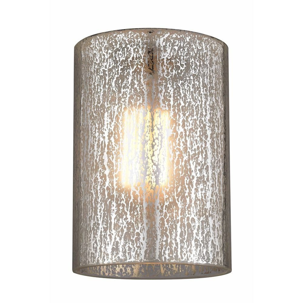 Mercury Cylindrical Glass Shade Amazon Com With