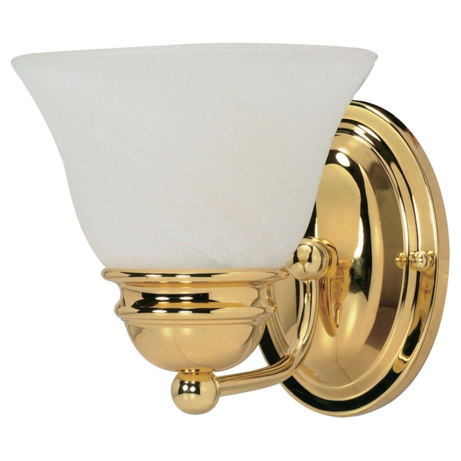 Nuvo 60 Empire 1 Light Bathroom Vanity Light Brass Vanity Light Polished Brass Vanity Lighting