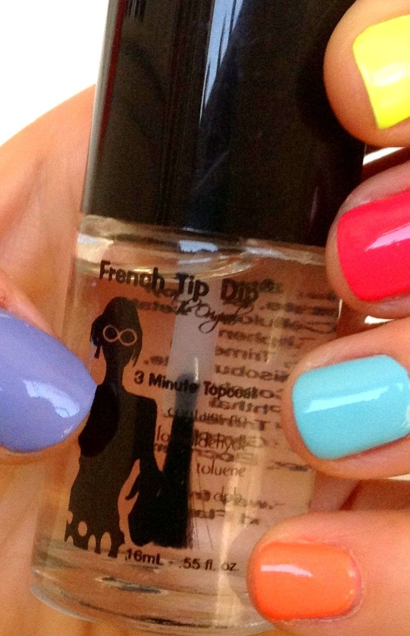 6 Pack 3 Minute Topcoat Nails Only Nails Rainbow Nails
