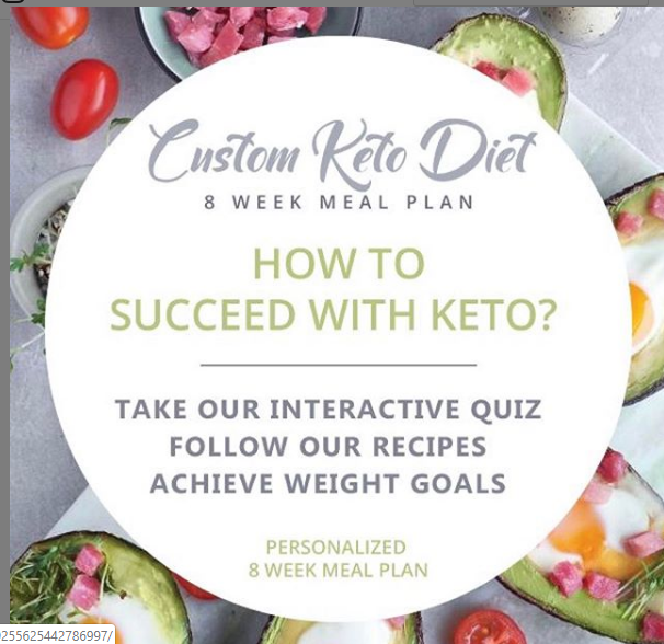 Take The Keto Quiz And Get A Customized Diet Plan Recipe And Shopping List With All The Ingredients Meal Planning Website Personalized Meal Plan Keto Diet